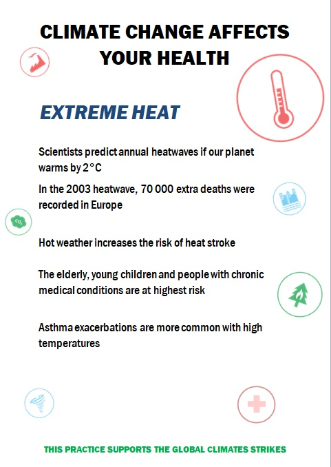 Climate change affects your health!