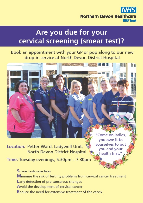 Drop in smear test